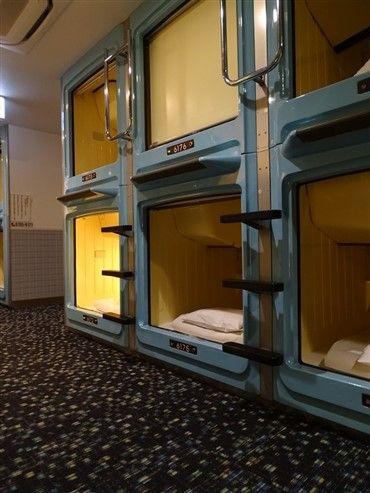 Un capsule hôtel à Tokyo