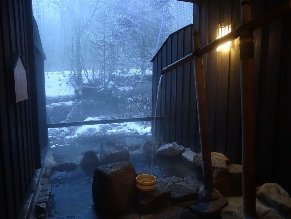 Un Onsen sous la neige