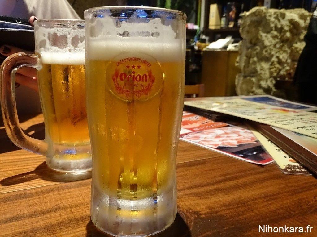 La bière japonaise Orion