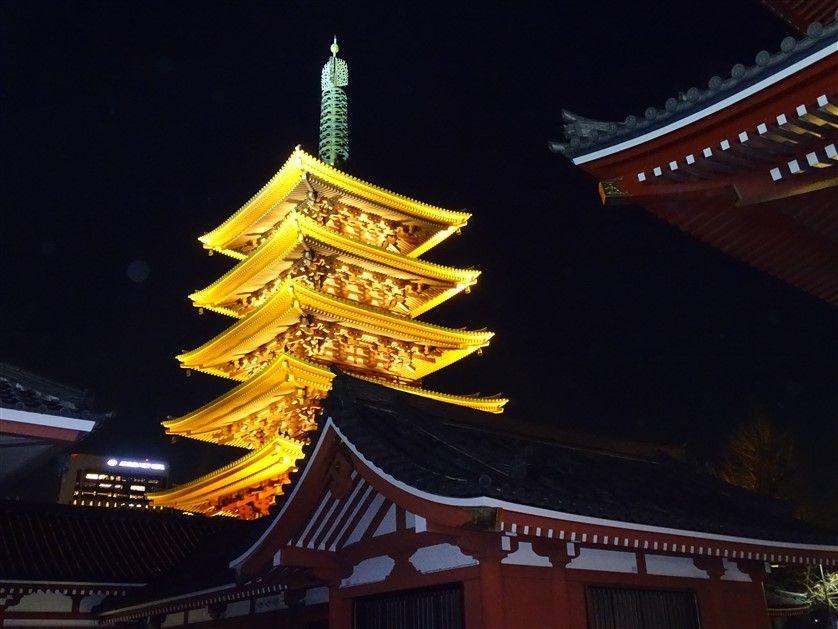 La pagode du Senso-Ji à Asakusa