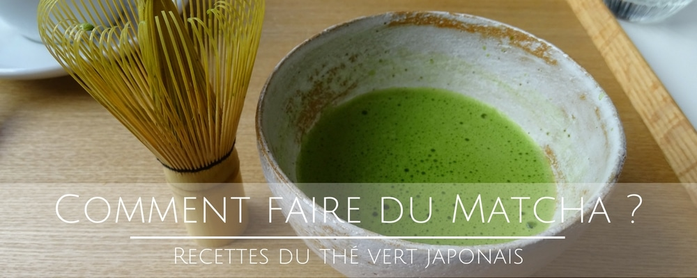 comment faire du matcha recette du th vert japonais. Black Bedroom Furniture Sets. Home Design Ideas