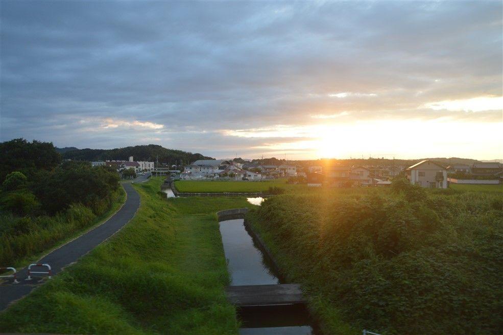 Le coucher du soleil à Naoshima