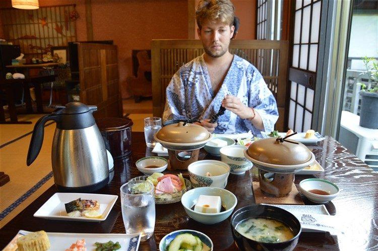 Un petit-déjeuner Kaiseki