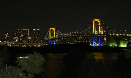 Le Rainbow Bridge à Odaiba