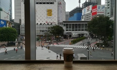 le starbucks du shibuya crossing