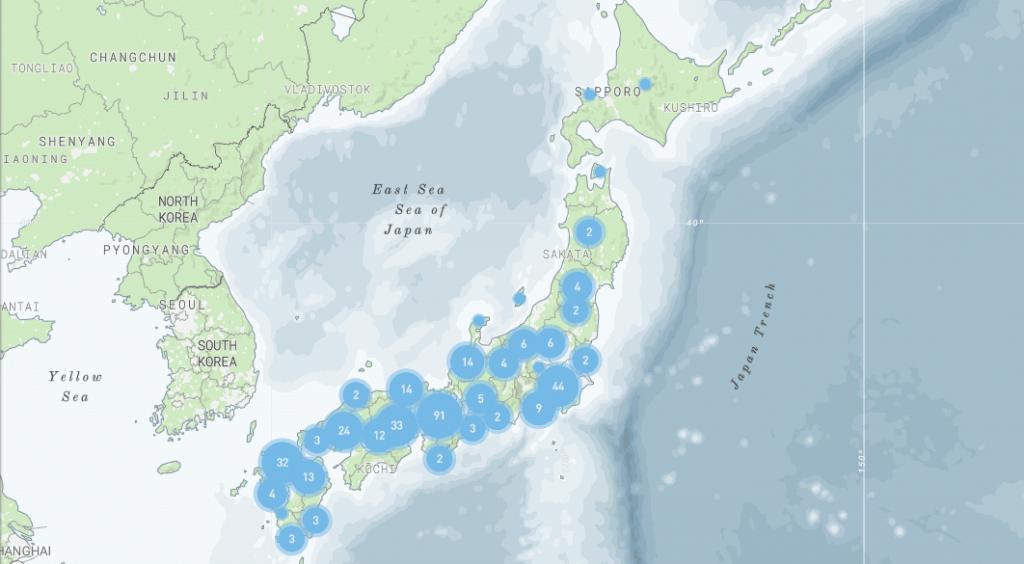 La carte des lieux d'interet
