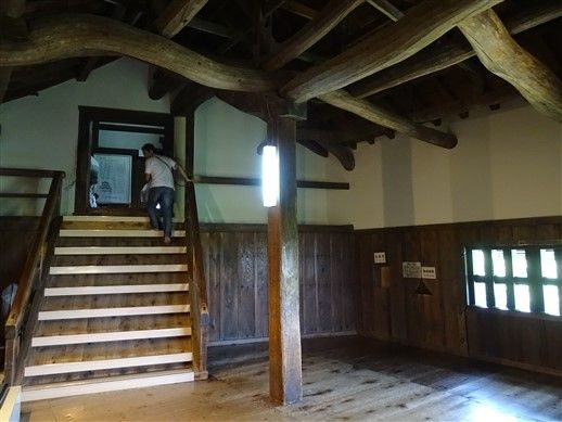 L'intérieur d'un chateau japonais