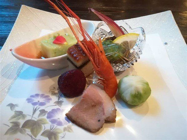 Le repas du Ryokan Wakaba