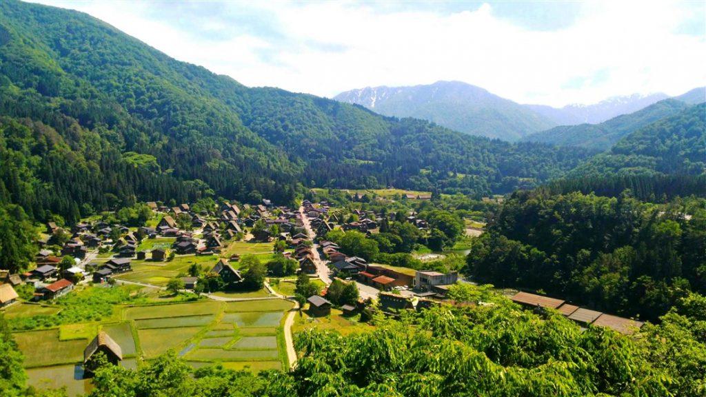 La vue sur shirakawago
