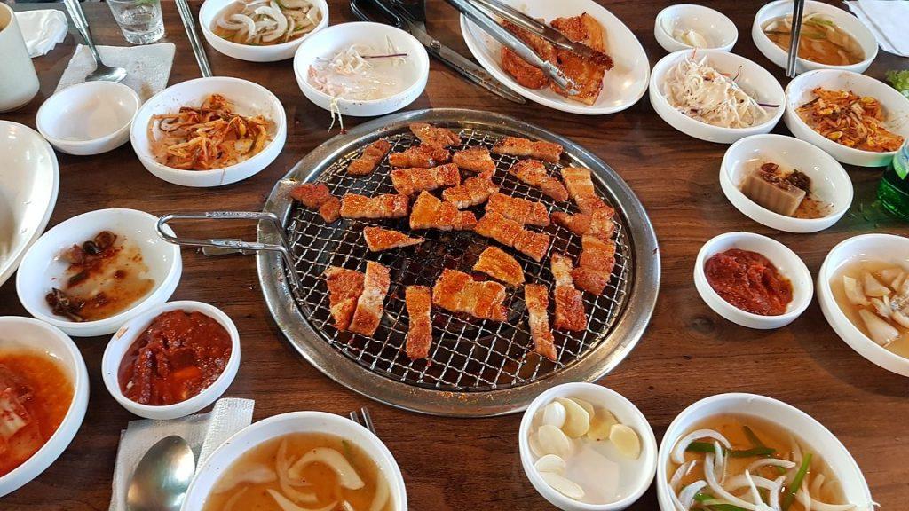 un barbecue coréen