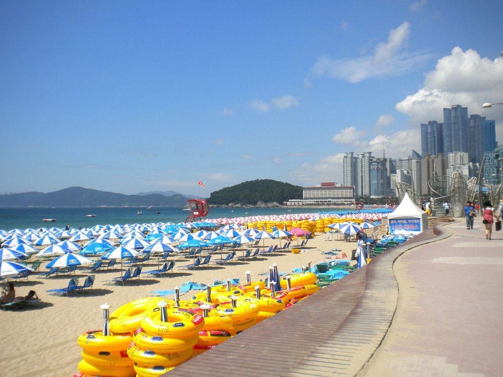 Les plages de Busan - haeundae