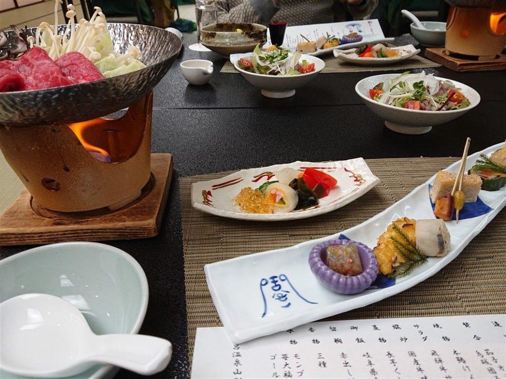 Un repas de Ryokan