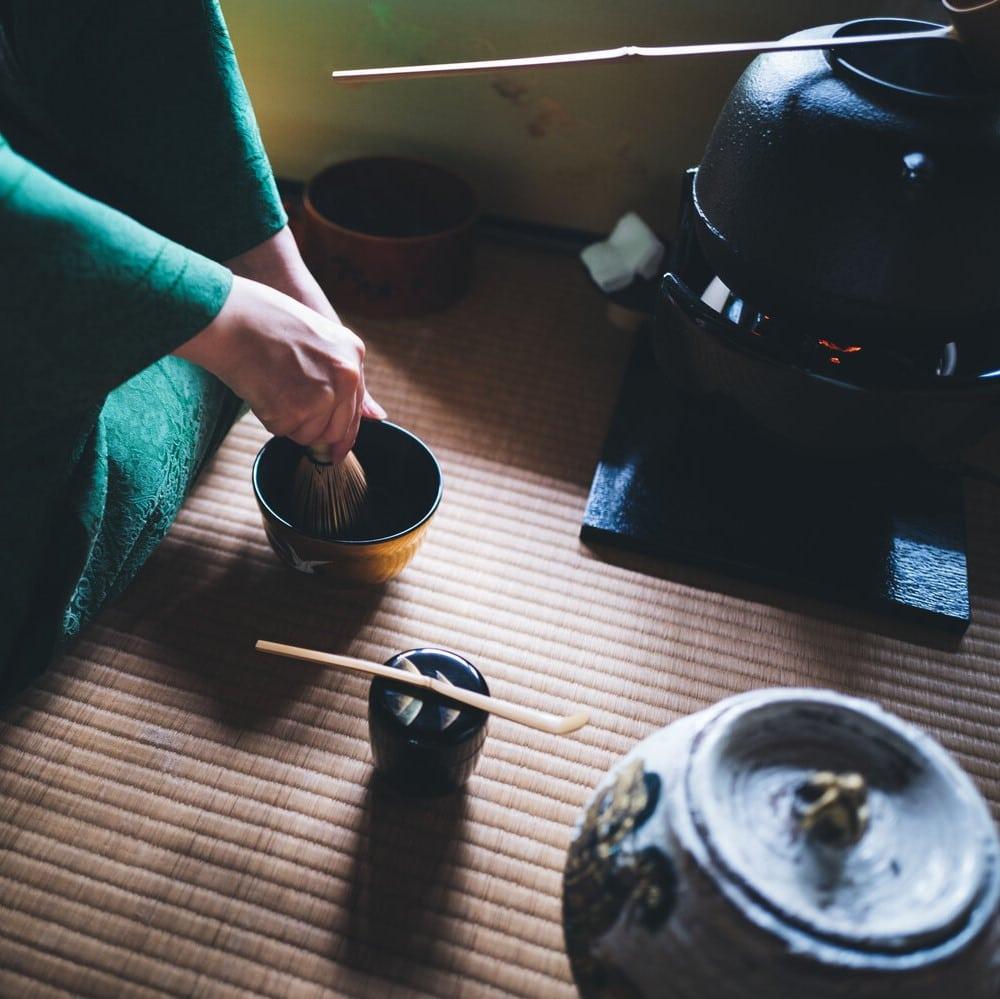 Une cérémonie du thé