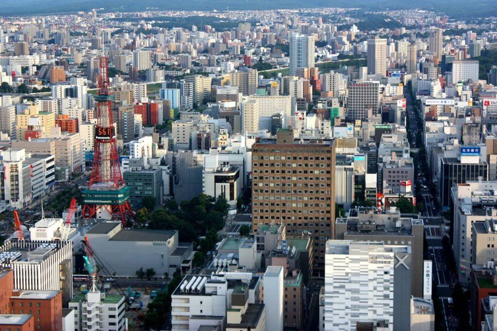 Une vue sur Sapporo