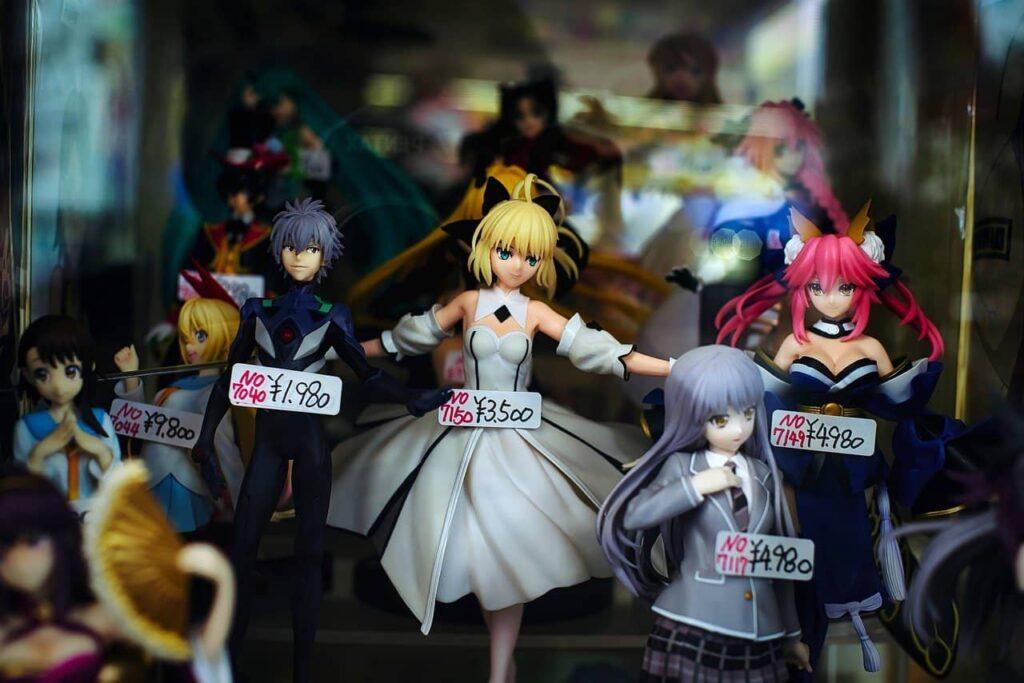 Des figurines à Akiba